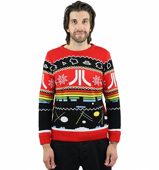 Retro Knitted Atari Symbols Fair Isle Jumper