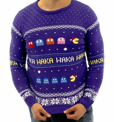 Retro Knitted Pac-Man Fair Isle Jumper