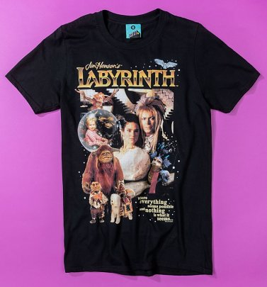 Retro Labyrinth Black T-Shirt