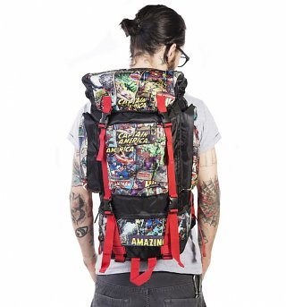 Retro Marvel Comics Camping Backpack