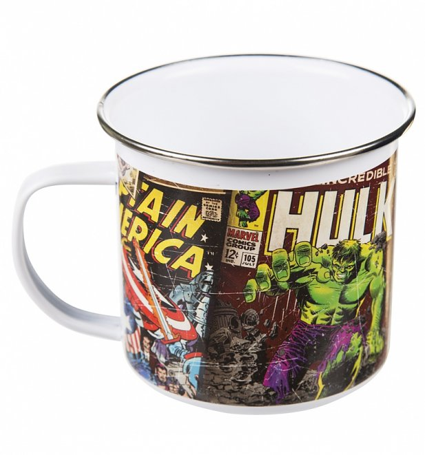 Retro Marvel Comics Enamel Boxed Mug