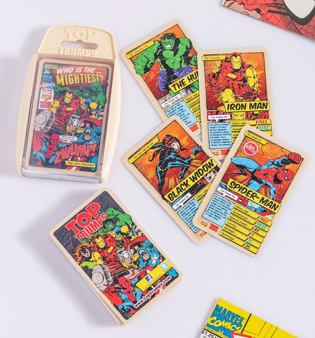 Retro Marvel Comics Top Trumps Card Game