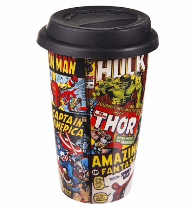 Retro Marvel Comics Travel Mug