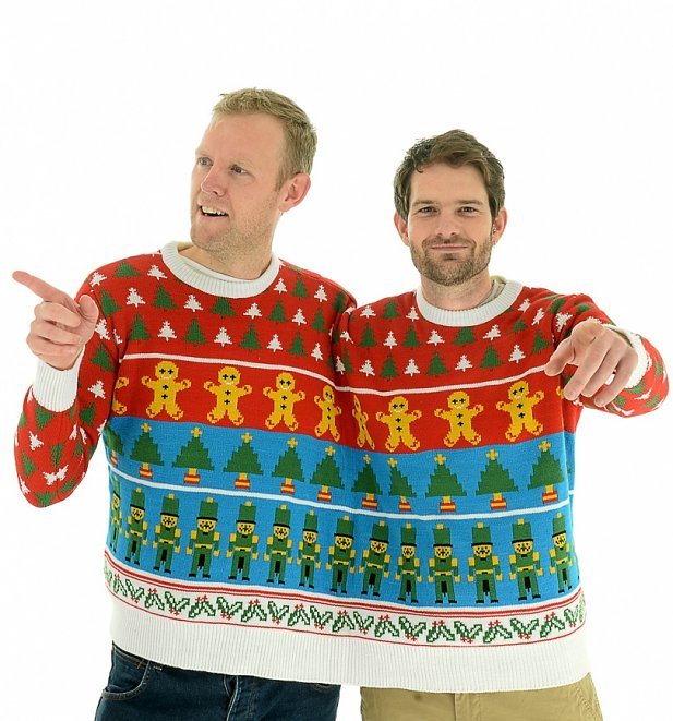 Retro Nutcracker Knitted Twosie Jumper from Cheesy Christmas Jumpers