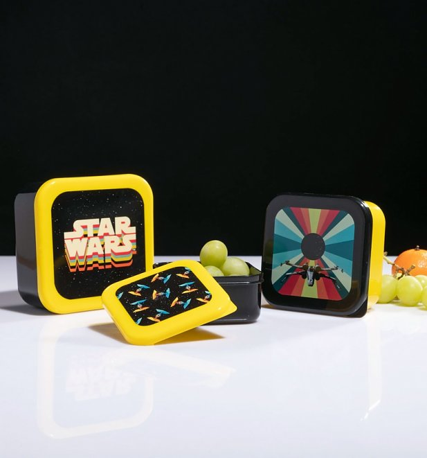 Retro Star Wars Vehicles Set Of Three Snack Boxes from Funko