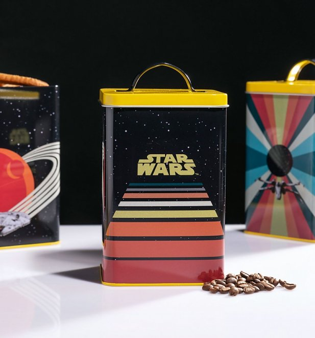 Retro Star Wars Vehicles Set Of Three Storage Tins from Funko