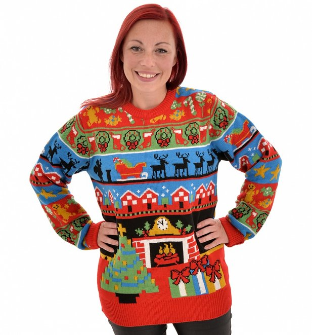 Retro Twas The Night Before Christmas Knitted Jumper from Cheesy Christmas Jumpers