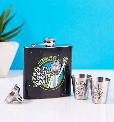 Rick And Morty Hip Flask Gift Set