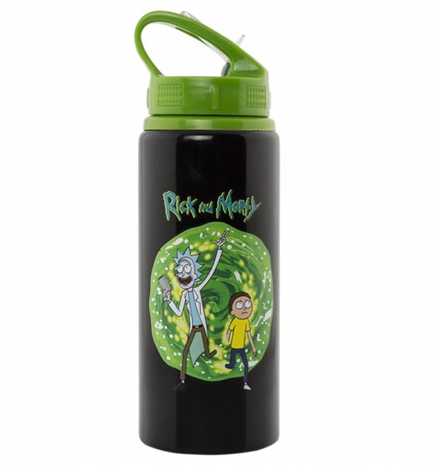 Rick And Morty Portal Aluminium Water Bottle