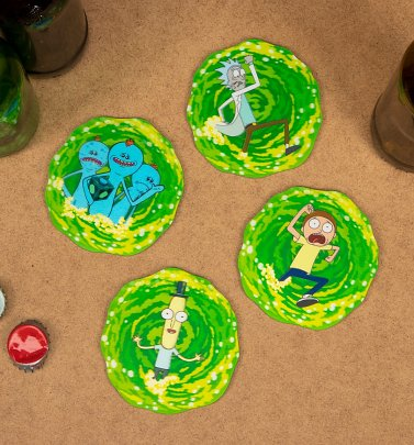 Rick and Morty 3D Set of Four Lenticular Coasters