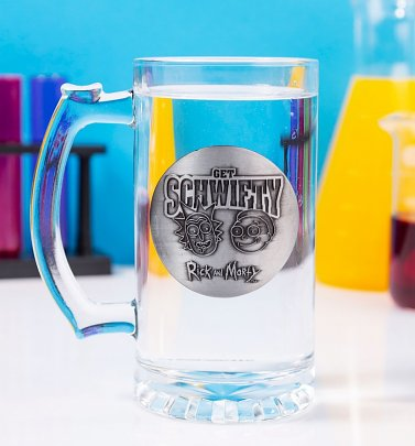 Rick and Morty Get Schwifty Glass Stein