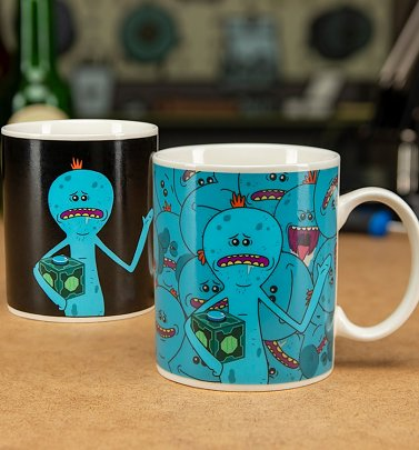 Rick and Morty Mr Meeseeks Heat Change Mug