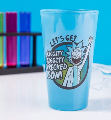 Rick and Morty Wrecked Blue Glass