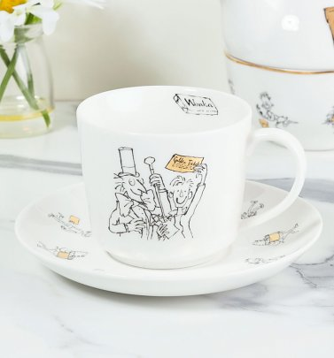 Roald Dahl Charlie And The Chocolate Factory China Tea Cup and Saucer Set