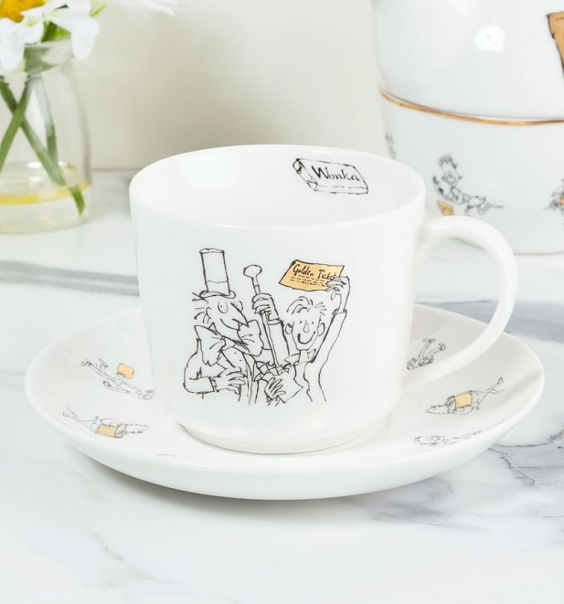 Roald Dahl Charlie And The Chocolate Factory China Tea Cup & Saucer Set