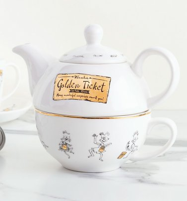 Roald Dahl Charlie And The Chocolate Factory China Tea For One Set