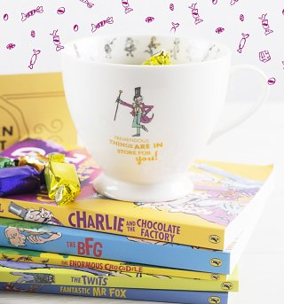 Roald Dahl Charlie And The Chocolate Factory Tremendous Things Footed China Mug