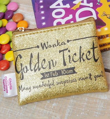 Roald Dahl Charlie and The Chocolate Factory Golden Ticket Coin Purse