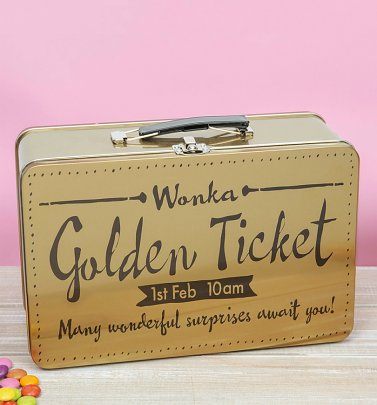 Roald Dahl Charlie and The Chocolate Factory Golden Ticket Tin Tote