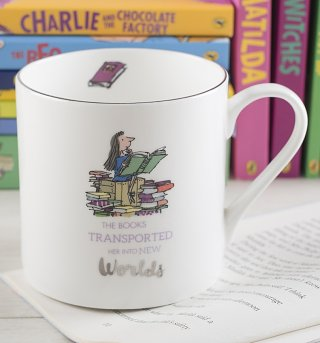Roald Dahl Matilda New Worlds Large Boxed China Mug