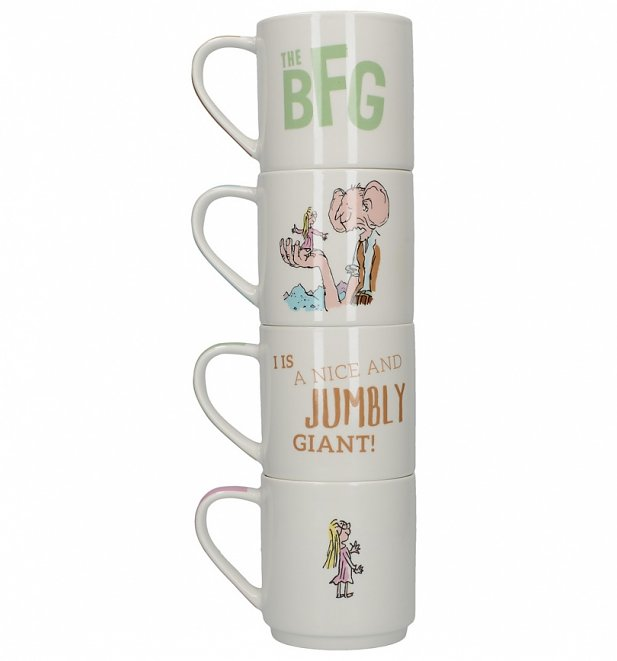 Roald Dahl The BFG Set Of 4 Stacking Mugs