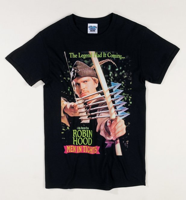 Robin Hood Men In Tights Movie Poster Black T-Shirt