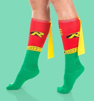 Robin Knee High Socks with Cape