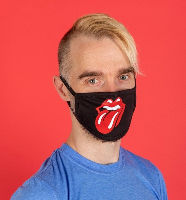 Rolling Stones Tongue Logo Face Mask