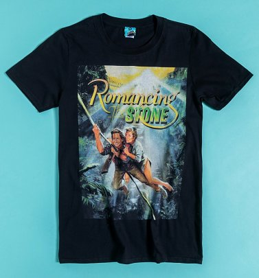 Romancing The Stone Movie Poster Black T-Shirt