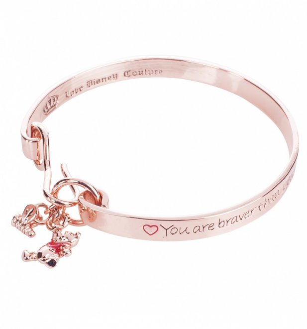 Rose Gold Plated Braver Than You Believe Winnie The Pooh Bangle