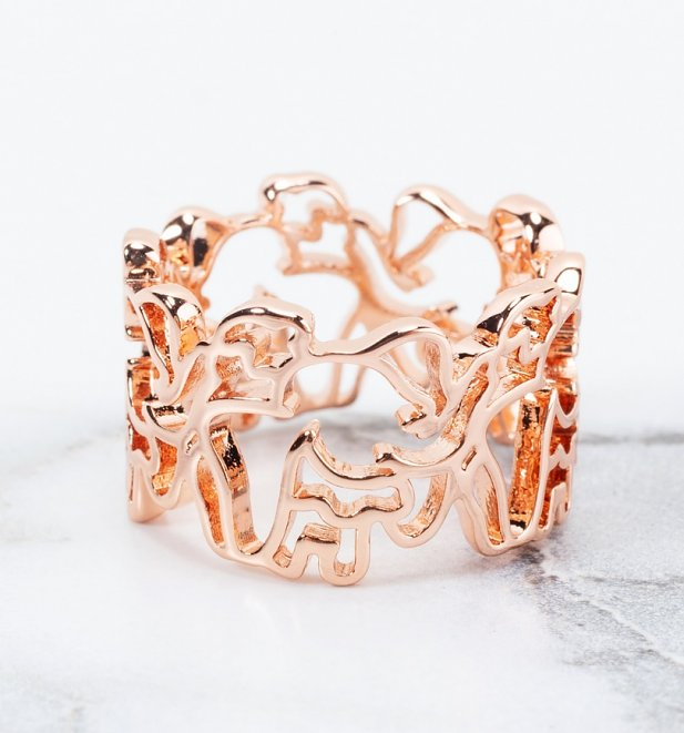 Rose Gold Plated Dumbo Outline Ring from Disney by Couture Kingdom