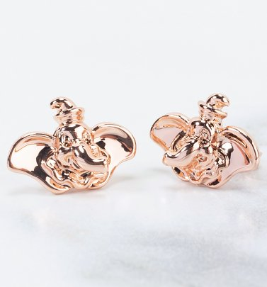 Rose Gold Plated Dumbo Stud Earrings from Disney by Couture Kingdom