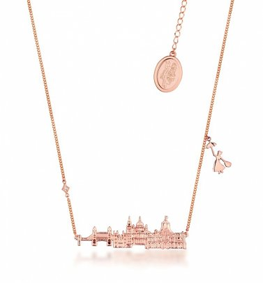 Rose Gold Plated Mary Poppins Skyline Necklace from Disney by Couture Kingdom