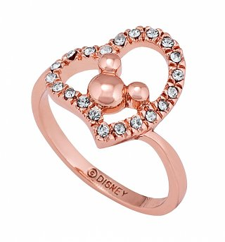 Rose Gold Plated Minnie Mouse Heart Ring from Disney Couture