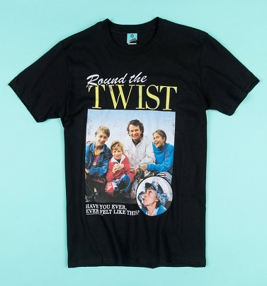Round The Twist Family Black T-Shirt