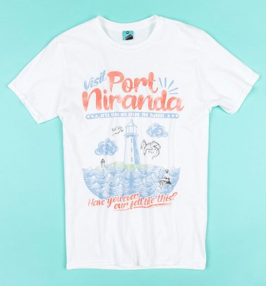Round The Twist Visit Port Niranda White T-Shirt