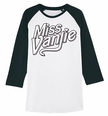 RuPaul's Drag Race Inspired Miss Vanjie White And Black Raglan Baseball Shirt