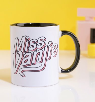 Miss Vanjie Black Handle Mug