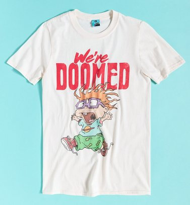 Rugrats Chuckie We're Doomed Ecru T-Shirt