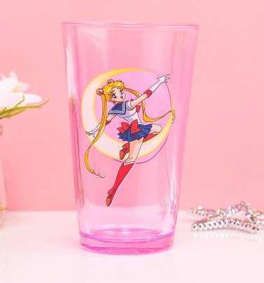 Pink Sailor Moon Glass