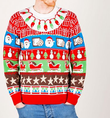 Santa's Gifts Knitted Christmas Jumper from Cheesy Christmas Jumpers