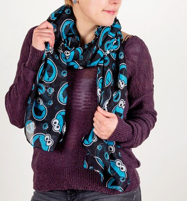Sesame Street Cookie Monster Lightweight Scarf
