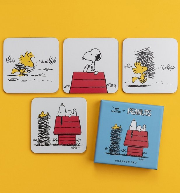 Set Of Four Peanuts Snoopy Coasters