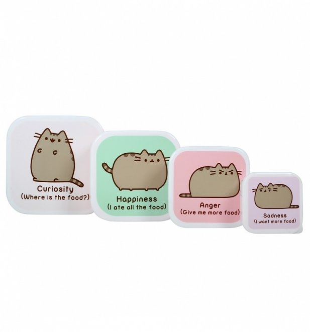 Set Of Four Pusheen Snack Boxes