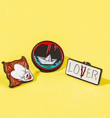 Set Of Three IT Enamel Pins