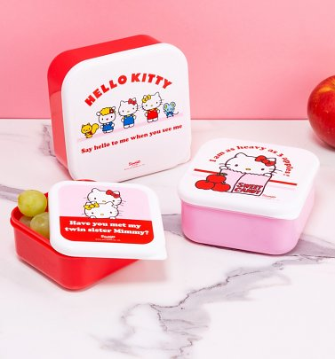 Set of 3 Hello Kitty Storage Pots
