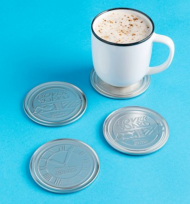 Set of Four Back To The future Metal Embossed Coasters