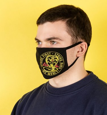 Set of Two Cobra Kai Logo Face Masks