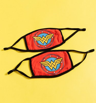 Set of Two DC Comics Wonder Woman Face Masks