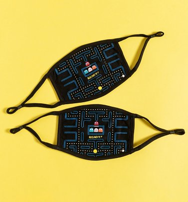 Set of Two Pac-Man Maze Face Masks